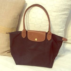 "Longchamp ""Le Pilage"" Small. Black and brown"